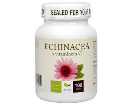 Natural Medicaments Echinacea s vitamínem C 100 tbl.