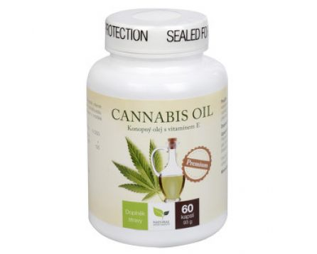 Natural Medicaments Cannabis oil 60 kapslí