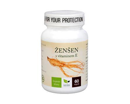 Natural Medicaments Ženšen + vitamín E 60 cps.