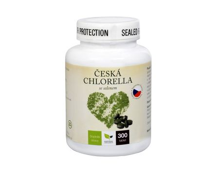 Natural Medicaments Česká chlorella se selenem 300 tablet