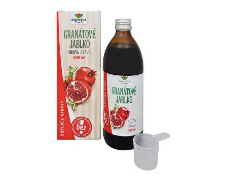 Ekomedica Granátové jablko - 100% šťáva z granátového jablka 500ml
