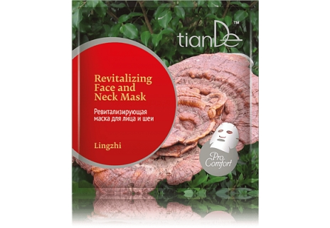 TianDe Revitalizační maska na obličej a krk Lingzhi