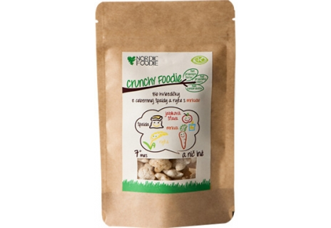 Bio hviezdičky z celozrné špaldy a rýže s mrkví 30 g